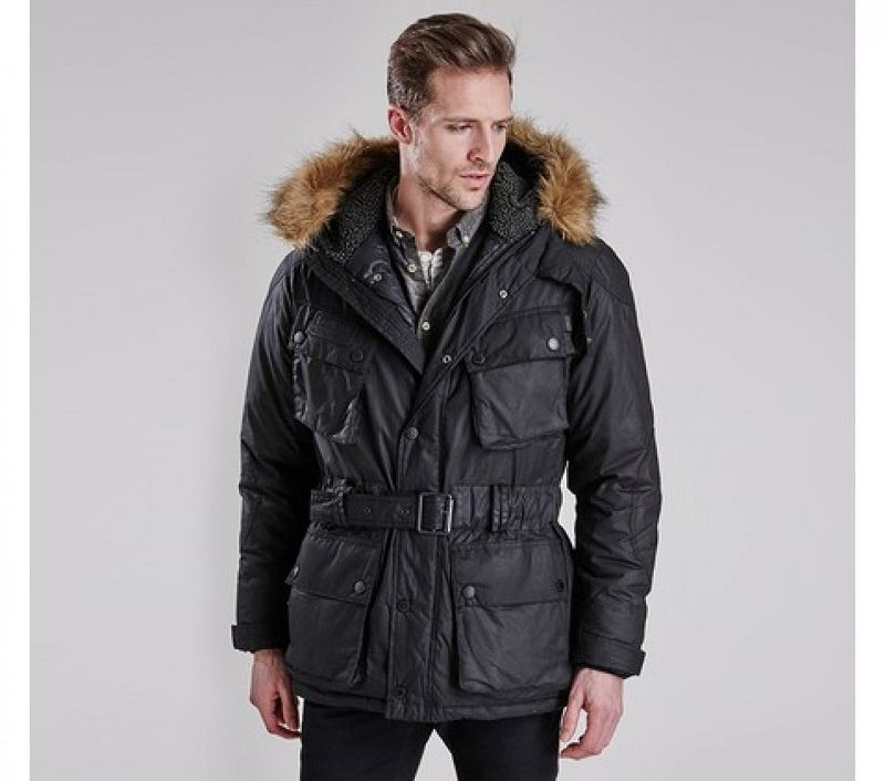 Barbour Men Winter Storm Slim Parka Black