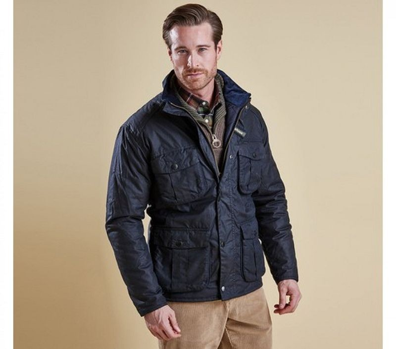Barbour Men Winter Utility Wax Jacket Navy