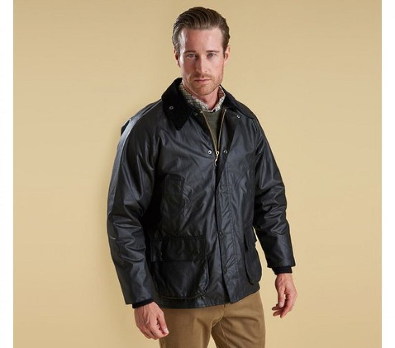 Barbour Men Bedale Waxed Jacket Black