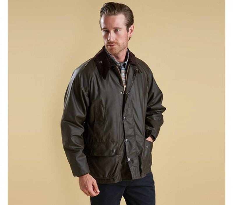 Barbour Men Classic Bedale Waxed Jacket Olive
