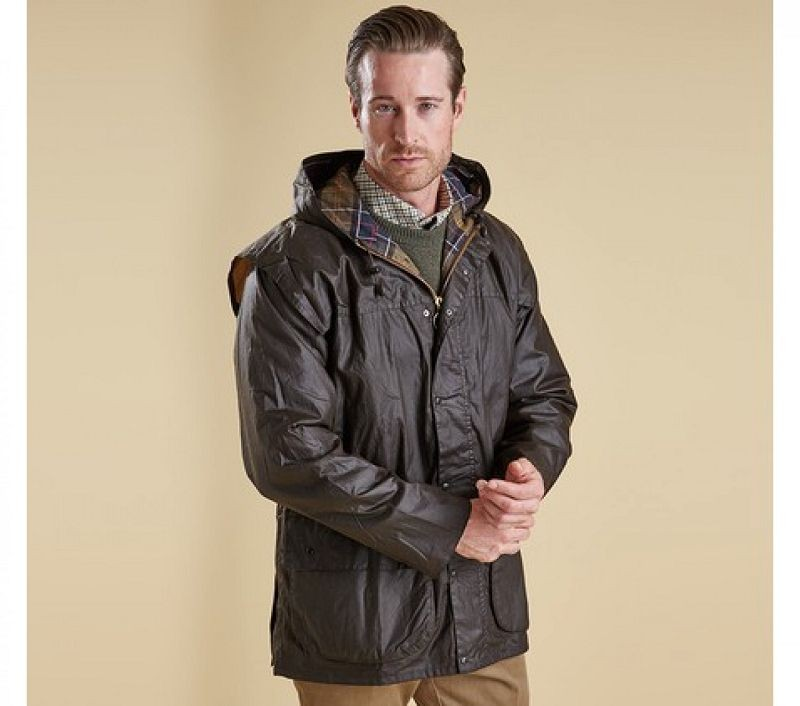 Barbour Men Classic Durham Waxed Jacket Olive