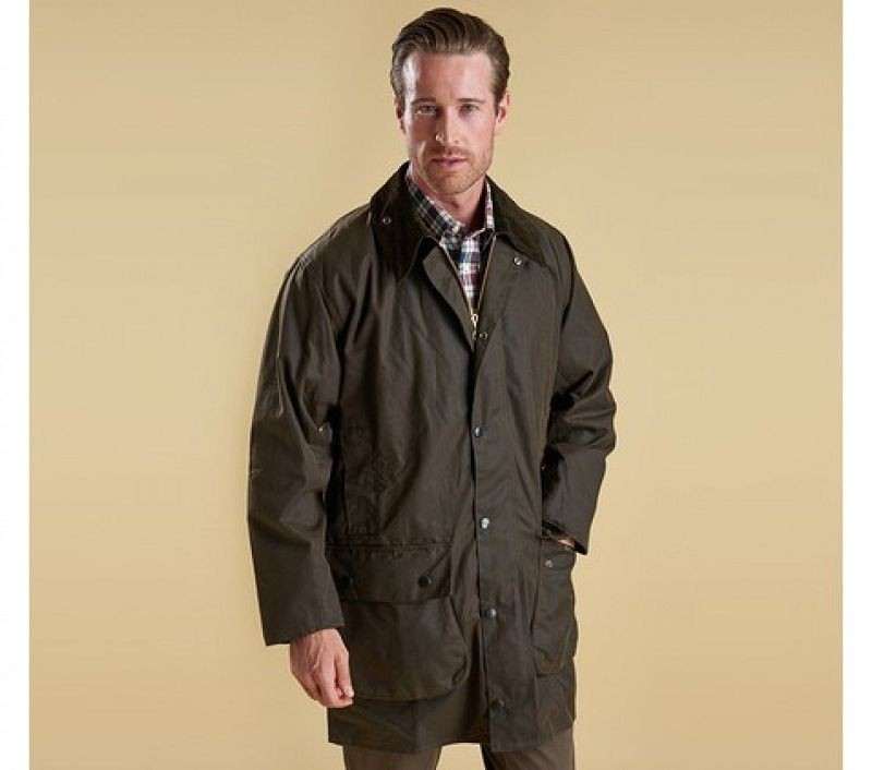 Barbour Men Classic Northumbria Waxed Jacket Olive