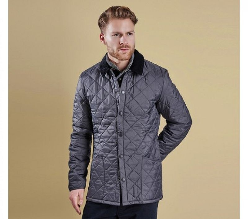 Barbour Men Heritage Liddesdale Quilted Jacket Charcoal