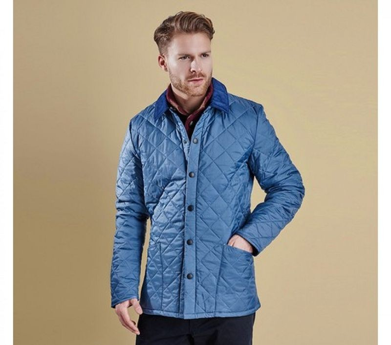 Barbour Men Heritage Liddesdale Quilted Jacket Dark Chambray