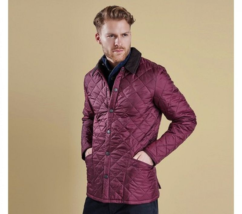 Barbour Men Heritage Liddesdale Quilted Jacket Merlot
