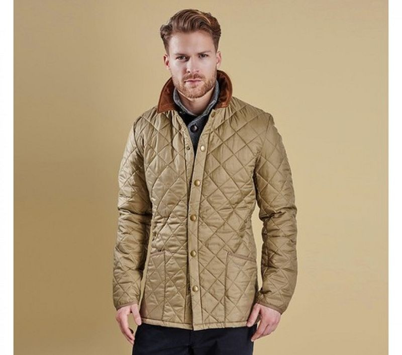 Barbour Men Heritage Liddesdale Quilted Jacket Military Brown