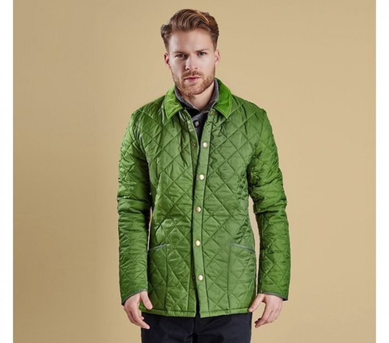 Barbour Men Heritage Liddesdale Quilted Jacket Turf Green