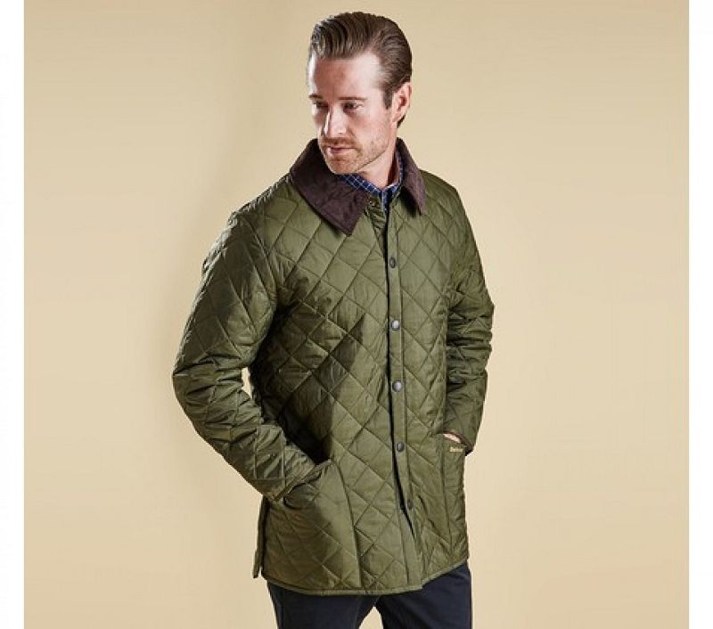 Barbour Men Liddesdale Quilted Jacket Olive