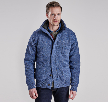Barbour MKN0888BL14 Cyclocross Button Through Cardigan