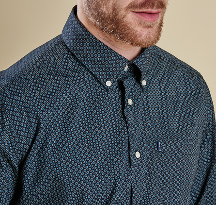 Barbour MSH3550GY11 Ernest Diamond Tailored Fit Shirt