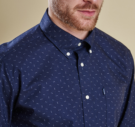 Barbour MSH3549NY94 Fred Speck Tailored Fit Shirt