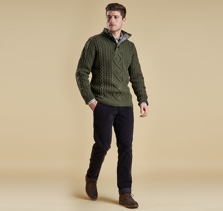 Barbour MKN0732OL91 Kirktown Half Button Jumper
