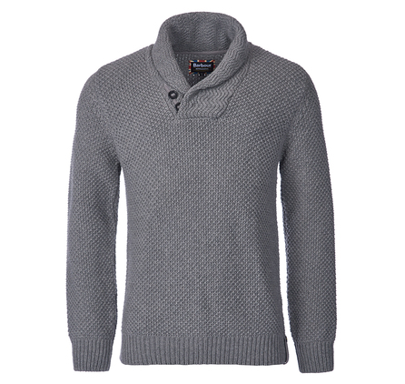 Barbour MKN0848GY14 Spectre Shawl Collar Jumper