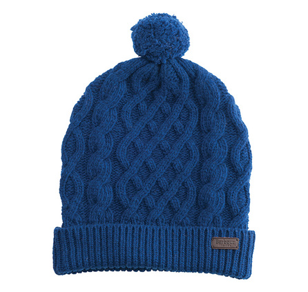 Barbour MHA0308BL16 Cable Knit Beanie River Blue