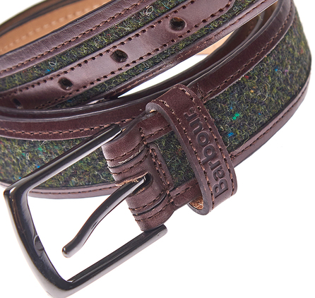 Barbour MAC0135OL31 Donegal Tweed Belt Olive