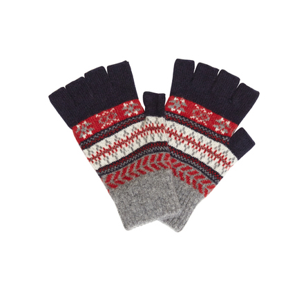 Barbour MGL0037NY91 Fairisle Gloves Navy
