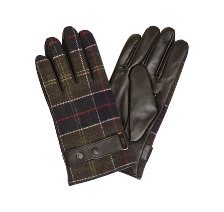 Barbour MGL0039BK11 Tartan Gloves Black/Classic