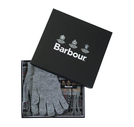 Barbour MAC0042TN71 Scarf And Glove Gift Box Modern/Grey