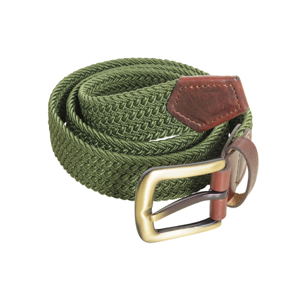 Barbour MAC0038KH71 Stretch Webbing Leather Belt