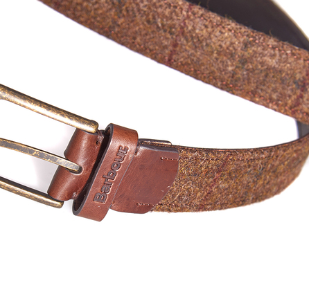 Barbour MAC0134BR31 Tweed And Leather Belt Brown Check