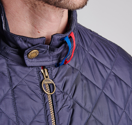 Barbour MQU0721NY91 Wanted Quilted Jacket Navy