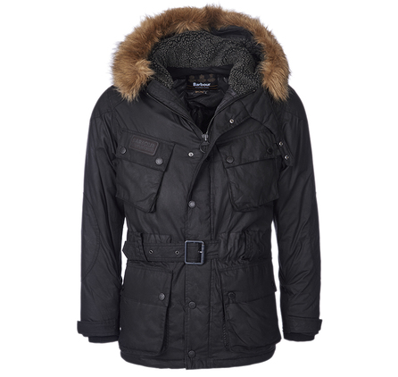 Barbour MQU0713BK91 Winter Storm Slim Parka Black