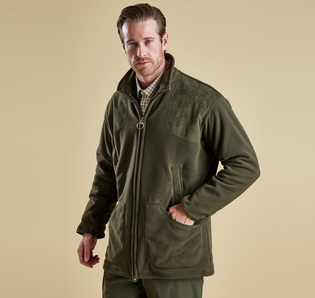 Barbour MFL0069OL71 Dunmoor Fleece Jacket Olive