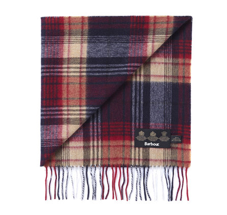 Barbour USC0107RE51 Brignall Lambswool Scarf Red/Navy