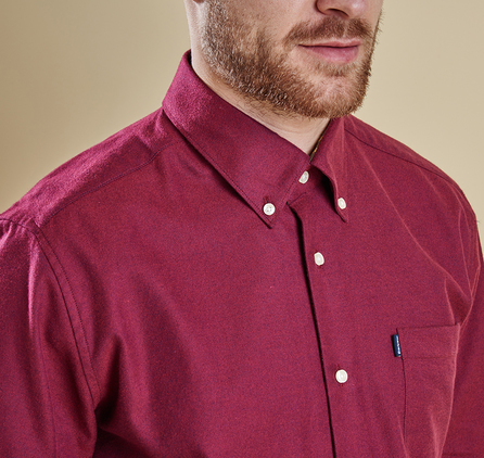 Barbour MSH3532RE53 Don Tailored Fit Shirt Ruby