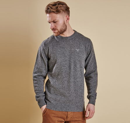 Barbour MKN0844GY12 Tisbury Crew Neck Jumper Grey