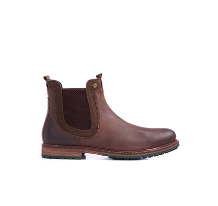 Barbour MFO0287BR71 Cullercoats Chelsea Boot Dark Brown