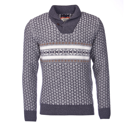 Barbour MKN0870GY33 Baker Shawl Neck Jumper