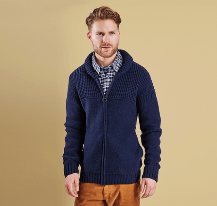 Barbour MKN0874NY91 Bancroft Zip Through Cardigan