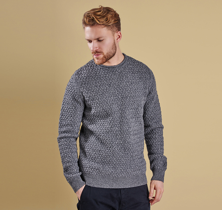 Barbour MKN0842GY91 Copeland Crew Neck Jumper Storm Marl