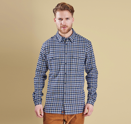 Barbour MSH3592BL18 Hearne Tailored Fit Shirt Chambray