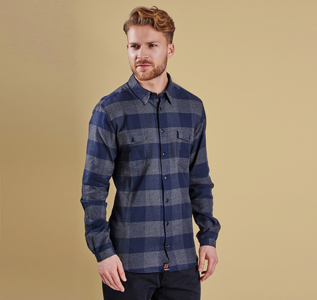 Barbour MSH3593NY91 Hornby Tailored Fit Shirt Navy