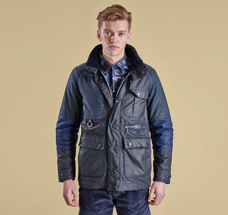 Barbour MWX0919NY92 Cragmoto Wax Jacket Navy