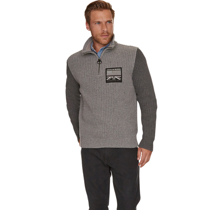 Barbour MKN0785GY93 Sedgwick Half Zip Jumper Grey Marl