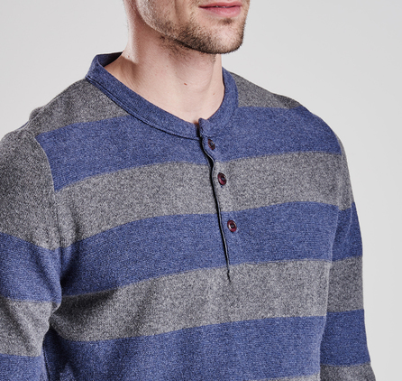 Barbour MKN0849IN32 Skywing Henley Sweater Indigo