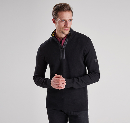 Barbour MKN0852BK11 Throttled Half Zip Jumper