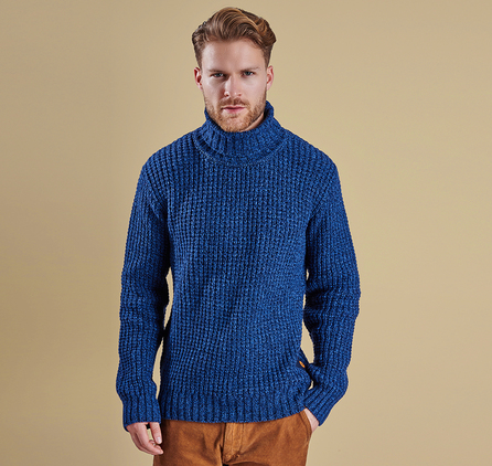 Barbour MKN0857NY91 Edderton Roll Neck Jumper Navy