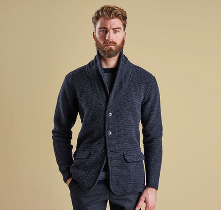 Barbour MKN0879CH94 Clearwell Knitted Blazer Dark Charcoal