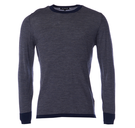 Barbour MKN0884NY91 Terrain Crew Neck Jumper Navy