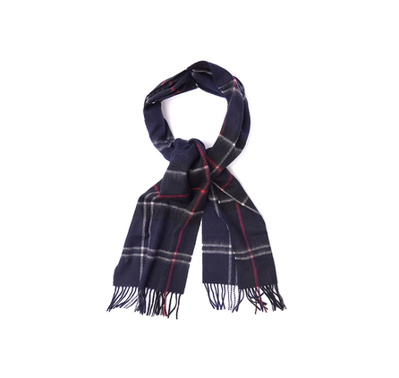 Barbour USC0156NY11 Easton Tartan Scarf Navy/Red Check