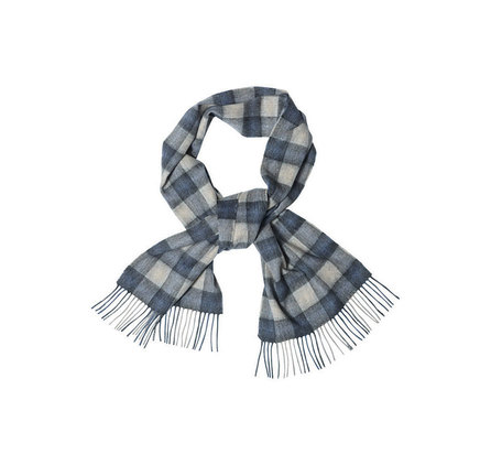 Barbour USC0120BL51 Gowan Check Scarf Blue/Grey