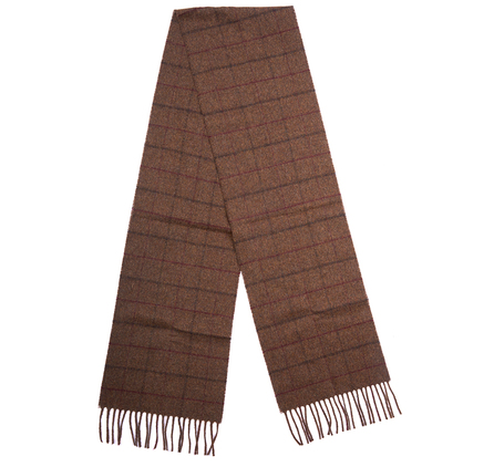 Barbour USC0164BR31 Kenneth Overcheck Scarf Brown Check