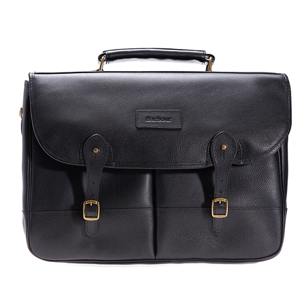 Barbour UBA0011BK11 Leather Briefcase Black