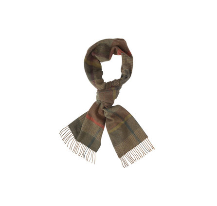 Barbour USC0031OL11 New Country Plaid Scarf Olive Mix