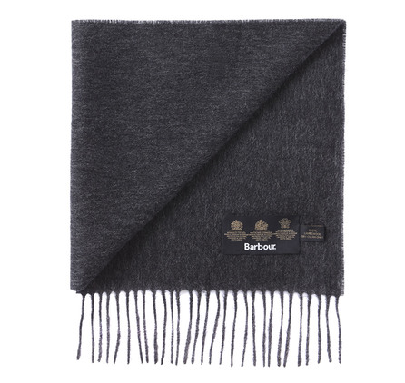 Barbour USC0008CH71 Plain Lambswool Scarf Charcoal/Grey