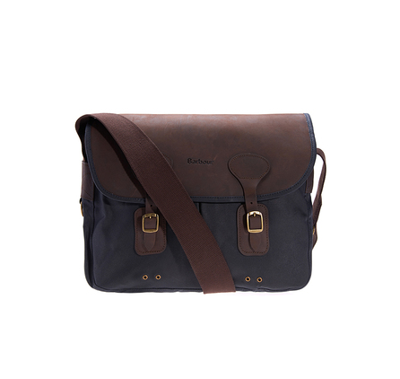 Barbour UBA0003NY91 Wax Leather Tarras Bag Navy